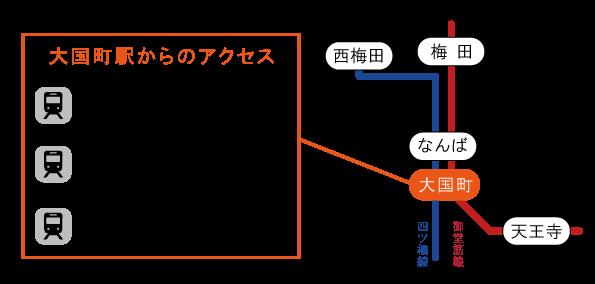 大国町駅から梅田・難波・天王寺までのアクセス時間