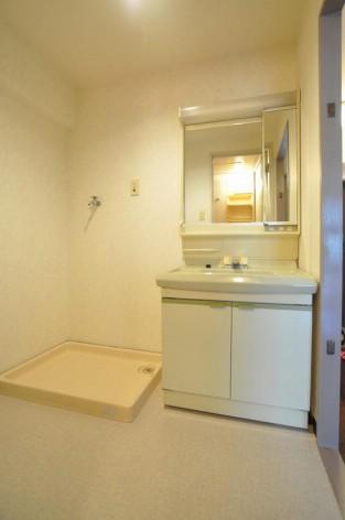 洗濯機置き場と独立洗面台